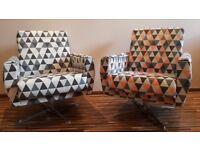 Armchair - Two original classic 1960's Polish design armchairs lovingly restored