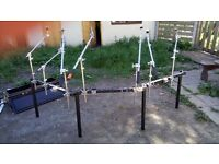 Pearl DR80 3 sided drum rack 7 cymbal arms, 10 clamps