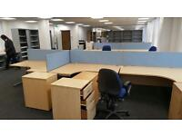 Pedestals under desk drawers filing cabinets. All colours. Delivery