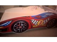 Racing Car bed for toddler boys girls 160x80 with matteress