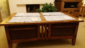 coffee table with four drawers