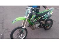 Kawasaki kx85 big wheel with uprated parts fitted