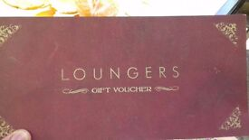 Loungers gift vouchers