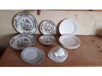 Indian Tree & Various vintage plates.