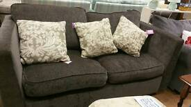 Grey 2 seat sofa bed in excellent condition