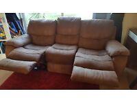 BARGIN!! Beautiful 3 seater recliner sofa