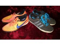 Nike and adidas trainers