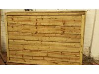 🌟 High Grade Waneylap Wood Fence Panels 10mm Boards