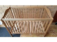 Free baby cot bed