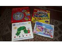 Selection of puzzles 3+ years Very Hungry Caterpillar, Peppa Pig