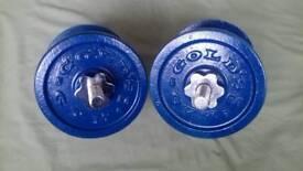 Golds gym spinlock dumbells.