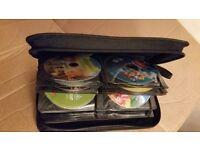 Job lot bundle wallet of 60 children original DVDs no box,