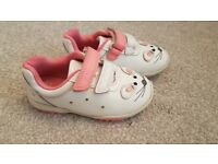 Girls Clarkes light up trainers size 6.5