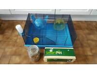 Hamster cage set-up