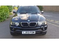 2003 X5 BMW 3.0D SPORT. 12 MONTHS MOT *** TOP SPEC *** HPI CLEAR Black Full leather interior.