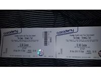 The Enemy Glasgow 26th September Farewell Tour Tickets