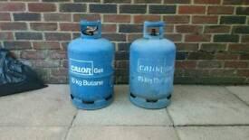 Two Calor Gas Bottles Cylinder 15kg Empty