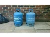 Two Calor Gas Bottles Cylinder 15kg Empty
