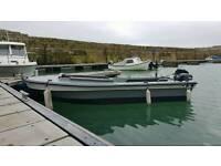 Open deck fishing boat