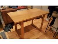 Real oak desk / dining table from Debenhams