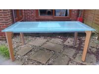 This table is made of solid glass (almost 5mm) so is quite heavy and therefore collection only.