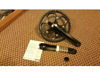 Shimano 105 FC-5750 50F-34T 175mm compact crank rings and crank arms. Black. Brand new.