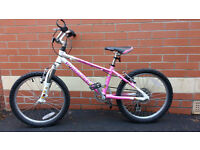 """Girl's bike, 20"""" wheels, would suit 6-8 year old. Excellent condition."""