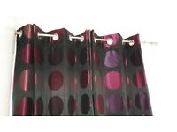 3 sets of next curtains black pink purple