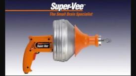 Super vee Sani snake drain clearing tool