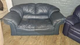 Two seat real leather sofa nice comfy 69 POUND Free Delivery