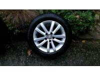 """Volkswagen Portland 14"""" alloy wheels, set of 4, 185/60 R14's"""