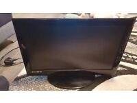 "Black 19"" flat screen dvd tv"