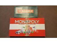 Original Monopoly and Scrabble board games