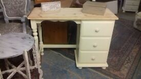 Solid Pine/Cream Dressing Table