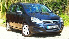 Vauxhall Zafira 1.6 i VVT 16v Exclusiv 5dr AA REPORT 2014 (63 reg), MPV 54,405 miles 1598cc
