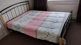 King size bed without mattress, cheap sale 40
