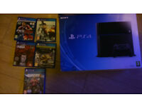 £170 Today - Boxed Playstation 4 500GB with 5 games +1 Official PS4 Controller