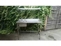 Half price! Stainless steel professional kitchen sink and drainer restaurant pro kitchen.