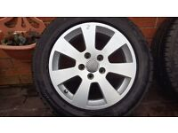 "SPARE ALLOY WHEEL RIM TYRE AUDI 16"" A3 A4 205 55 16 7mm VW 8P0601025A 5x112"