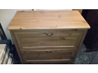 Oak Effect Chest of Drawers x Two Draws - High Quality