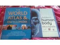 Children's Human body encyclopedia + The World Atlas