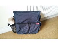 Skiphop navy baby changing bag for sale