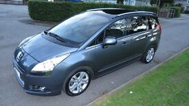 Peugeot 5008 1.6 HDI Exclusive 7 seat MPV.