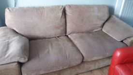 2 x identical 3 seater sofas. Purchased them for £85. But too big for room. Need gone. £35