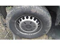 Volkswagen Crafter wheels and tyres x 4