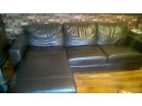 brown leather corner sofa sofa bed with storage see photos