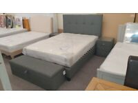 Sorrento High Headboard Double Bed by Julian Bowen Can Deliver