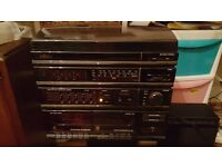 Saisho TCM2000 Vintage stereo system in working order - 2xtape decksLMFMMW radio & turntable