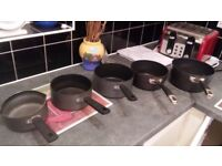 5 nr pots and pans