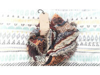 *RRP £30* NEW Next Square Scarf - Brown/Multi